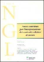 Immagine di Nuovi contributi per l`interpretazione dei contratti collettivi di lavoro