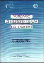 """Immagine di Repertorio Generale del """"Notiziario di giurisprudenza del lavoro"""" (1991-1995)"""