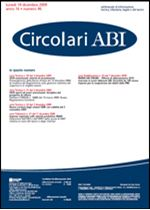 Immagine di Circolari ABI n. 46 del 14 dicembre 2009