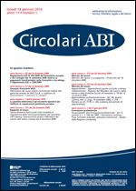 Immagine di Circolari ABI n. 1 del 18 gennaio 2010