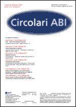 Immagine di Circolari ABI n. 13 del 9 aprile 2007