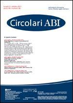 Immagine di Circolari ABI n. 40 del 31 ottobre 2011