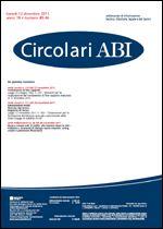Immagine di Circolari ABI n. 45-46 del 12 dicembre 2011