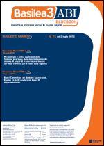 Immagine di Basilea3 ABI BlueBook n.15 del 2 luglio 2012