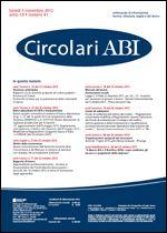 Immagine di Circolari ABI n. 41 del 5 novembre 2012