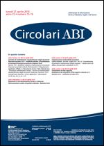 Immagine di Circolari ABI n. 15-16 del 27 aprile 2015