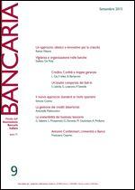 Immagine di Bancaria n. 9/2015