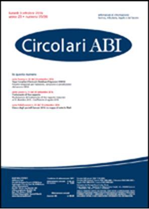 Immagine di Circolari ABI n.35-36 del 3 ottobre 2016