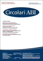 Immagine di Circolari ABI n.46-47-48 del 26 dicembre 2016