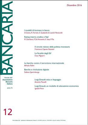 Immagine di Bancaria n. 12/2016