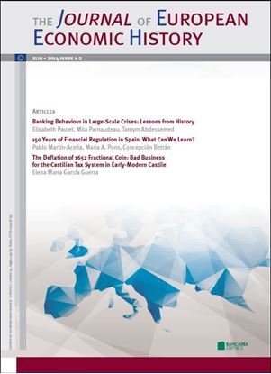 Immagine di Journal of European Economic History - 2014 issue 1 - 2