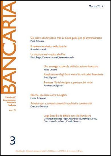 Immagine di Bancaria n. 3/2017
