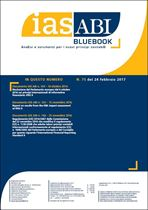 Immagine di Ias ABI BlueBook n. 75 del 24 febbraio 2017