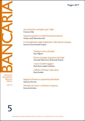 Immagine di Bancaria n. 5/2017