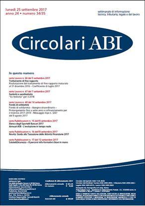 Immagine di Circolari ABI n.34-35 del 25 settembre 2017