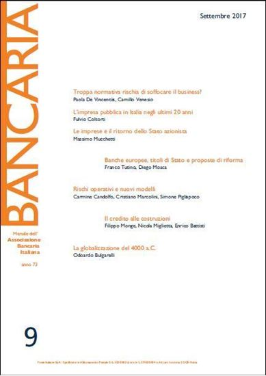 Immagine di Bancaria n. 9/2017