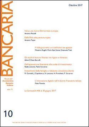 Immagine di Bancaria n. 10/2017