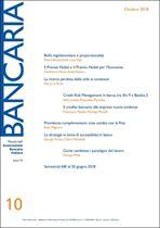 Immagine di Bancaria n. 10/2018