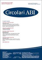 Immagine di Circolari ABI n. 1-2 del 20 gennaio 2020