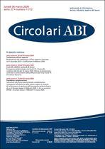 Immagine di Circolari ABI n. 11-12 del 30 marzo 2020
