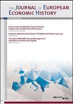 Immagine di Journal of European Economic History - 2020 issue 3