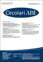 Immagine di Circolari ABI n. 3-4 del 25 gennaio 2021