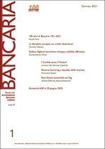 Immagine di Bancaria n. 1/2021